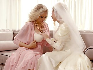 Bride enjoys the mature mother-in-law for a few rounds of swishy XXX