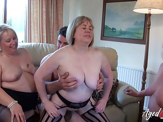 AgedLovE Group of Matures Hard Ropugh Sex Action
