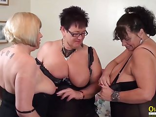 OldNannY Sapphic Trisha Trine Lesbian Party Masturbation
