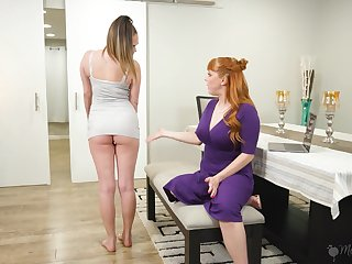 Hot stepmom takes advantage of her stepdaughter with the addition of she loves being eaten out