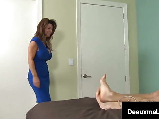 Busty Cougar Deauxma Milks A Young Dick Full Of Cum!