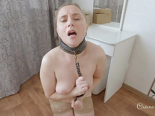 Submissive whore has ruined orgasm