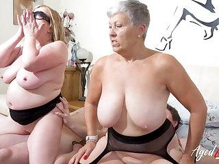AgedLovE, Busty British Matures Shot at Hard Group Sex