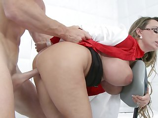 A sexy nurse that has a big ass and meticulous tits is possessions fucked