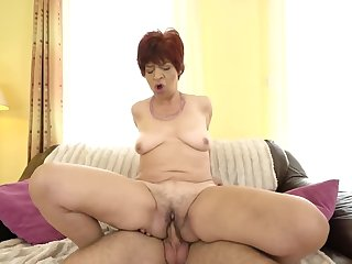 Cruel age-old woman Donatella gets fucked by the brush young lover