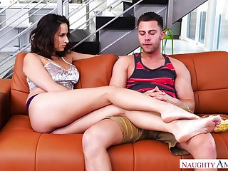 Sexy brunette babe Ashley Adams desires to shrink from fucked doggy style