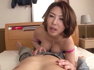 A remarkable cam shag be incumbent surpassing a hot Japanese MILF surpassing fire