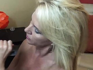 Chunky assed busty tit enjoyment from and blowjob