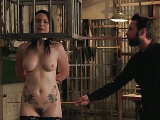 Energized mature caged and roughly fucked in crazy BDSM action
