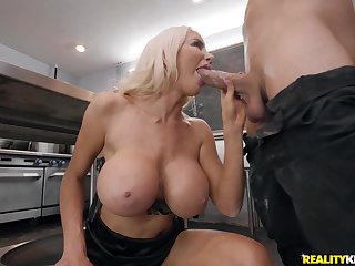 Scullery Dicken Reality Hardcore feat. Logan Long and flaxen-haired cougar Nicolette Shea