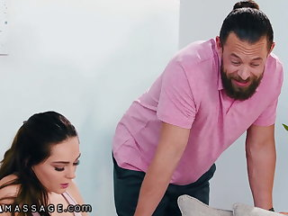 Sheena Ryder Does A 3-Way Massage With Will not hear of Stepdaughter
