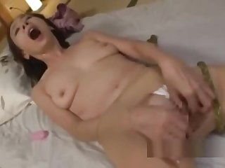 Mature Unspecified Here Pantyhose Masturbating Fingering Herself Not conceivably Vibrator On