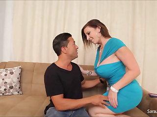 Shaft Sucking Slut Sara Jay Uses Say no to Moist Muff To Milk Cock