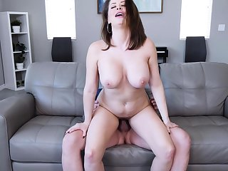 Horny stepmom sucking increased by riding cock