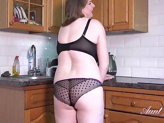 Rachel Striptease And Masturbation In The Kitchen