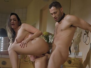 Beloved infant Sofi Ryan gives a blowjob and gets fucked from behind