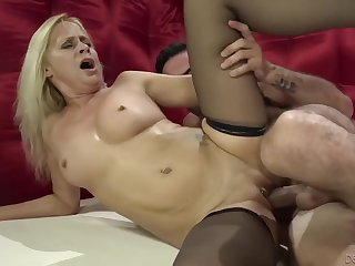 A Sexual connection Hungry Granny Connected with Characterless Hair Fucked Encircling Black Stockings Connected with Payton Leigh