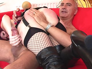 Kinky maledom sex thither horny Shay wearing black lingerie. HD