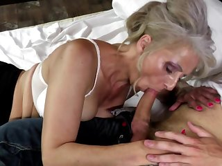 Hot mature mother fucked hard by young not will not hear of son
