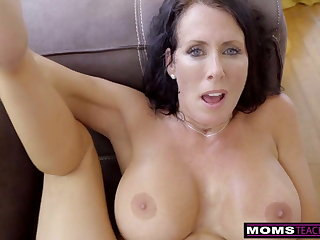 MomsTeachSex - Step Mama Coupled with Son Cum Together S9:E1