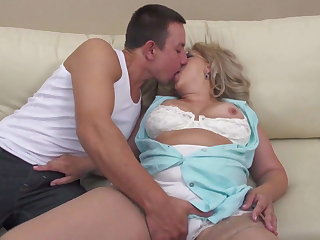 Taboo sex to mature hairy mother and son