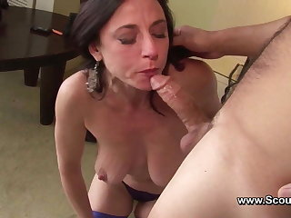 Mummy get Anal fuck in her old ass and cum in Face