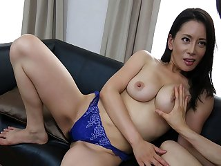 Japanese mature, Rei Kitajima likes evenly doggy- style and unce