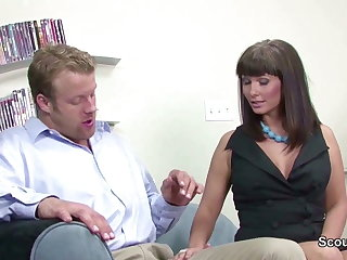 Sexy Mother get fucked at the end be advisable for one's tether Friend be advisable for her son when home alone