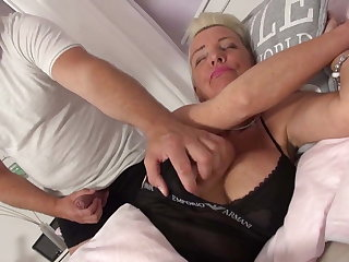 Guy wakes up and have sexual intercourse busty granny