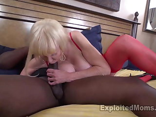 Granny with huge tits takes a pounding from frat sibling