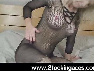Busty Blonde Fucks Her Ass