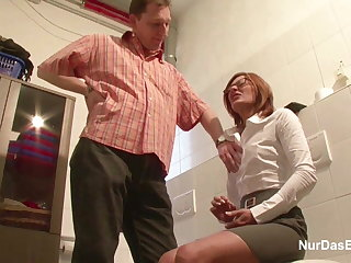 German MILF Seduce relative to Fuck by Younger Man on Work