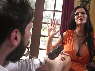 Burglar in mask fucks tied up brunette babe with huge boobs Jasmine Jae