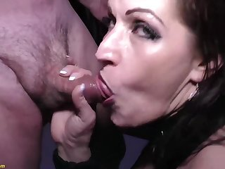 Unreasonable german MILF tries her first extreme rough double anal at our periodical swinger party orgy