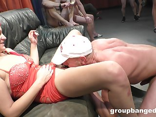 Tattooed amateur welcomes many dicks up her soaked holes