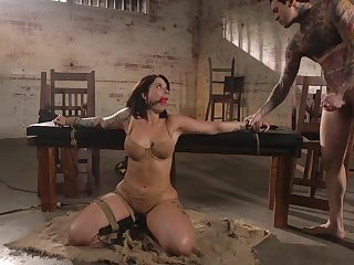Curvaceous milf Ivy Lebelle is face fucked before a imprecise anal sex