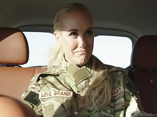 Army girls Elexis Monroe with the addition of Brandi Love having lesbian sexual connection