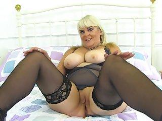 Granny Christina Shows Her Wet Vagina