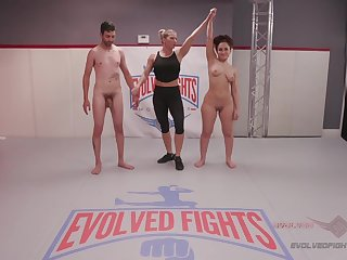 Gabriella Paltrova Gets Dirty in Competitive Mixed Wrestling - KINK
