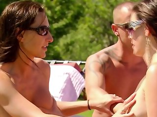 Pastime times under the sun with hot couples