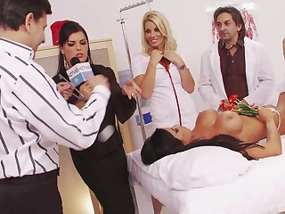 Large fuck fest roughly nurses in uniforms Jasmine Black and Exonerate