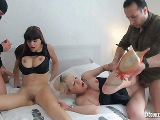 French sluts nutty group sex video