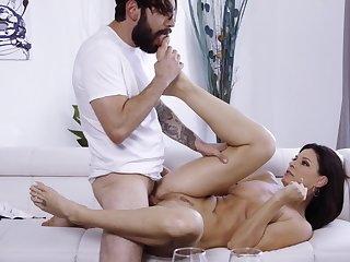Erotic lovemaking between an brace and older bolder India Summer