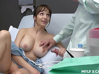 Sex-starved patient Lexi Luna masturbates and gives a tugjob adjacent to her boyfriend