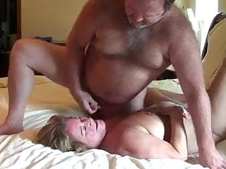 Wife and husband on bring to a close cam