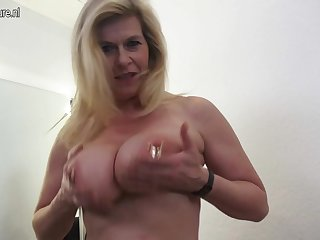 Chunky Breasted Heavily Pierced German Housewife Masturbating - MatureNL