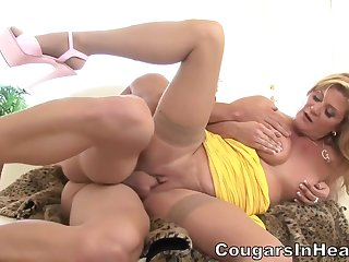 Slutty blonde woman, Ginger Lynn is getting fucked while will not hear of costs is on tap work all day