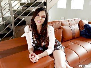 POV video for busty brunette Ariella Ferrera having wild sex