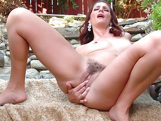 Sheet of solo redhead Alicia Silver playing here will not hear of wet pussy